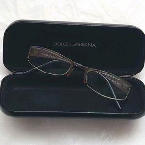 DOLCE & GABBANA eyeglass frame Half Rimless Gray